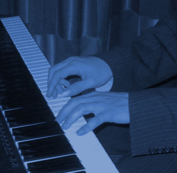 Jazz piano and pianist for hire - Equinox Blue - lounge jazz duo, jazz trio and jazz band.